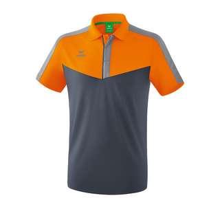 Erima Squad Poloshirt Poloshirt orangegrau