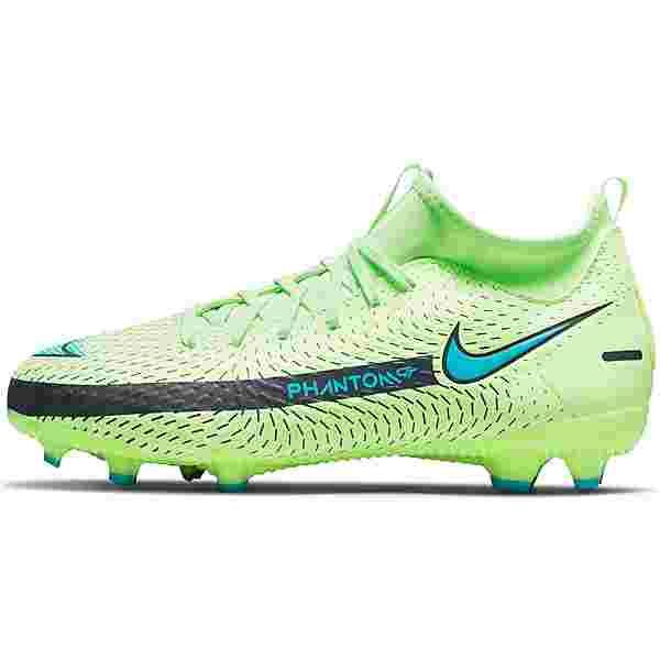 Nike Jr. Phantom GT Academy Dynamic Fit MG Fußballschuhe Kinder lime glow-aquamarine