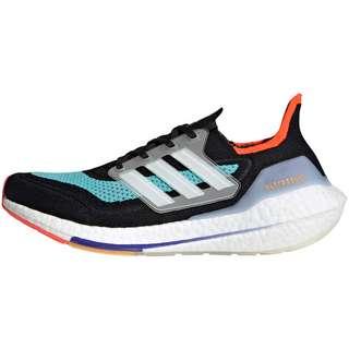 adidas Ultraboost 21 Laufschuhe Herren core black-ftwr white-pulse aqua