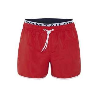 TOM TAILOR Badeshorts JONTE Badeshorts Herren red-poppy red