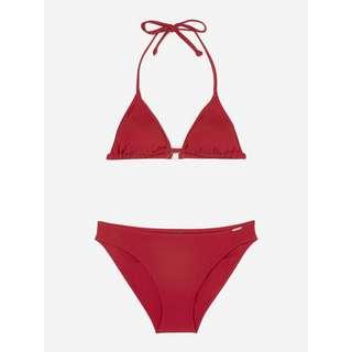 Marc O'Polo Triangle Bikini Solids Bikini Set Damen deep red
