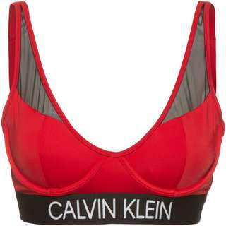 Calvin Klein Bikini Oberteil Damen rustic red