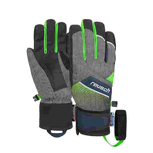Reusch Ferdi R-TEX® XT Junior Skihandschuhe Kinder black melange / neon green