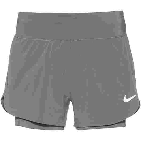 Nike Eclipse 2 in 1 Funktionsshorts Damen smoke grey-reflective silv