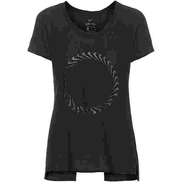 Nike Miler Funktionsshirt Damen black-dk smoke grey