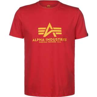Alpha Industries Basic T-Shirt Herren rot/gelb