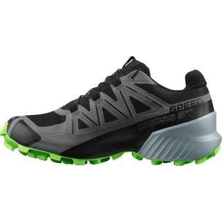 Salomon GTX Speedcross 5 Trailrunning Schuhe Herren black-quiet shade-green gecko