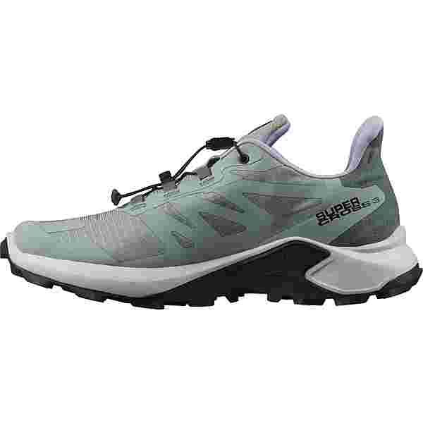 Salomon SUPERCROSS 3 Trailrunning Schuhe Damen green milieu-lunar rock-lavender