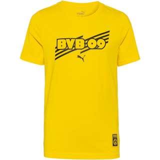 PUMA Borussia Dortmund T-Shirt Kinder cyber yellow-puma black