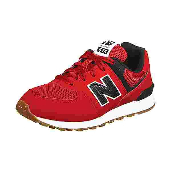 NEW BALANCE 574 Sneaker Kinder rot