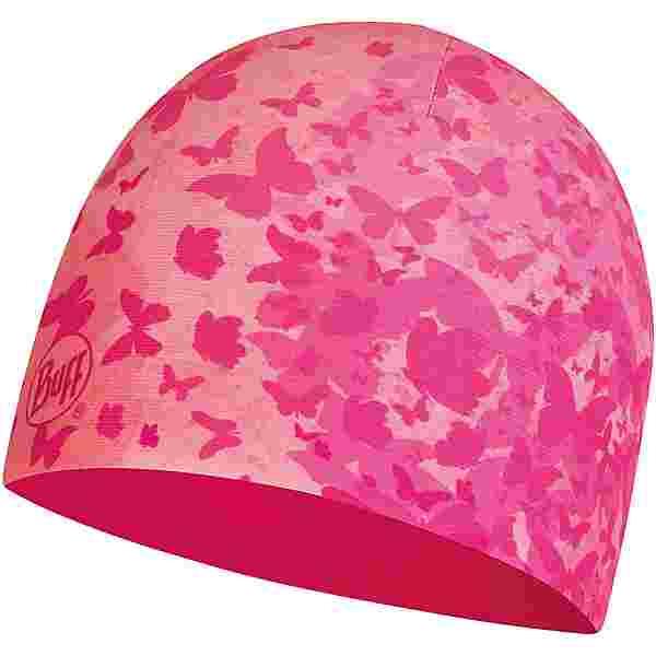 BUFF POLAR ECOSTRETCH Beanie Kinder child butterfly pink