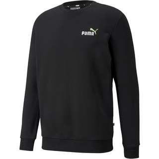 PUMA Essentiell Sweatshirt Herren puma black-green flash