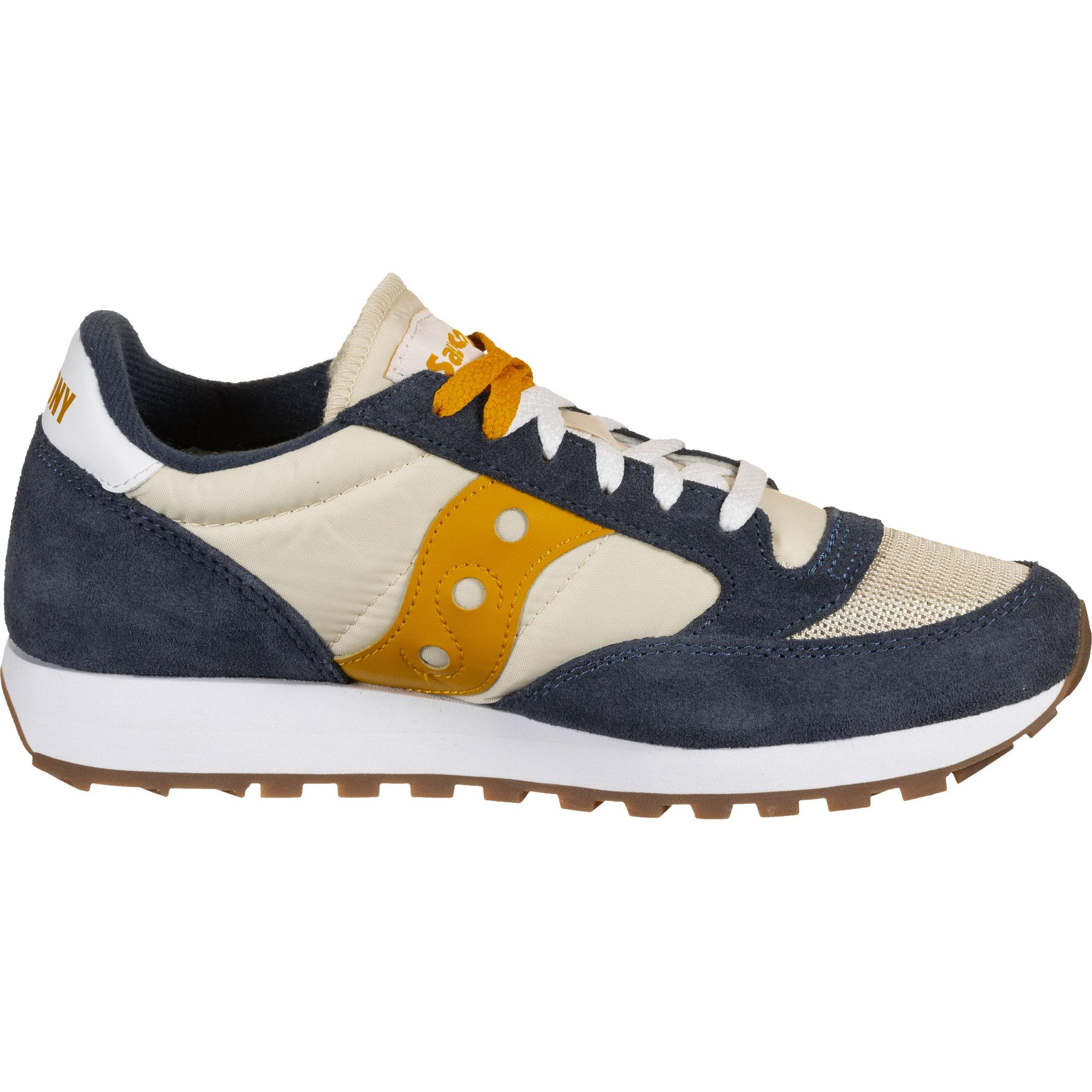 Saucony Jazz Original Herren Sneaker Turnschuhe Schuhe Beige Grün NEU S70463-7