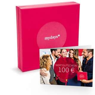 mydays 100€ Geschenkbox rot