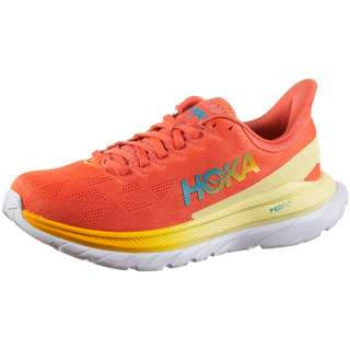 Hoka One One MACH 4 Laufschuhe Damen hot coral-saffron