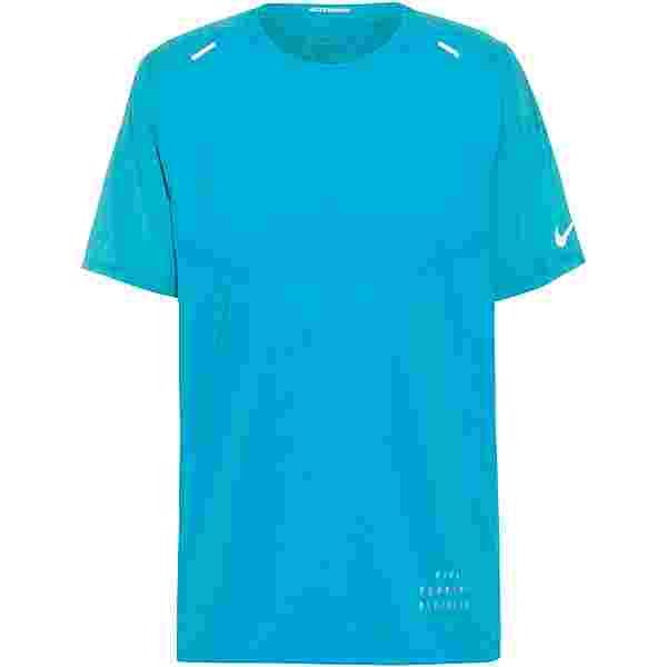 Nike Rise 365 Funktionsshirt Herren chlorine blue-reflective silver
