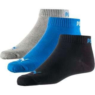 PUMA Quarter Socken Pack blue-grey melange