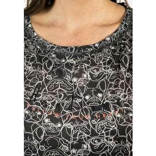Viertelmond Resa T-Shirt Damen grau/weiß