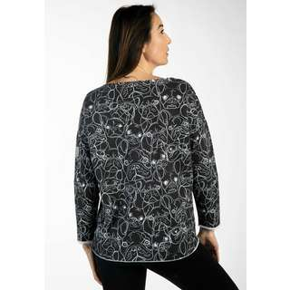Viertelmond Sophia Sweatshirt Damen grau/weiß