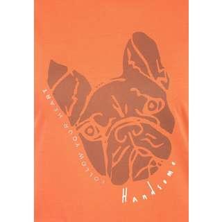 Viertelmond Tora T-Shirt Damen orange