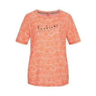 Viertelmond Resa T-Shirt Damen orange/weiß