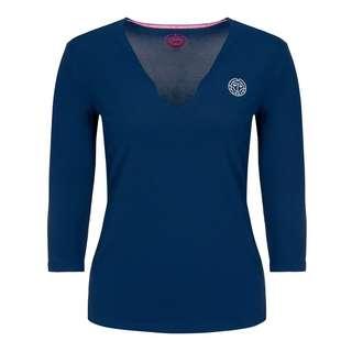 BIDI BADU Ariana Tech V-Neck Longsleeve Tennisshirt Damen dunkelblau