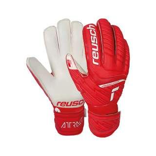 Reusch Attrakt Grip Finger Support Torwarthandschuhe Kinder red / white