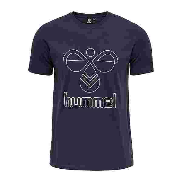 hummel hmlPETER T-SHIRT S/S T-Shirt Herren BLUE NIGHTS