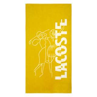 Lacoste L DOUBLE Badetuch gelb