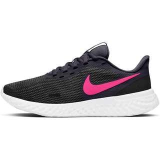 Nike Revolution 5 Laufschuhe Damen black-hyper pink-cave purple-lilac