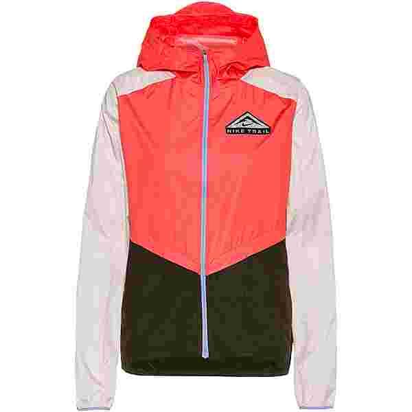 Nike Shield Laufjacke Damen magic ember-light soft pink-black
