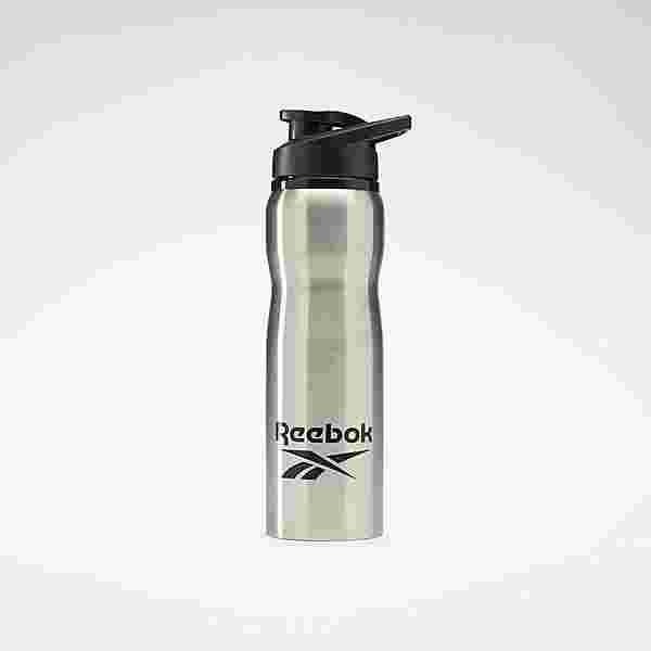 Reebok Training Supply Metal Bottle – 800ml Trinkflasche Herren Silber