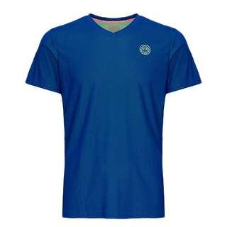 BIDI BADU Evin Tech Round-Neck Tee Tennisshirt Kinder blau/neongrün