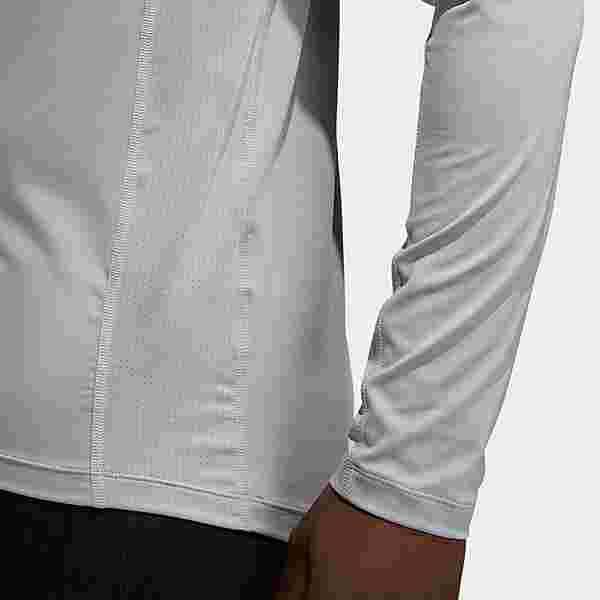 adidas Techfit Compression Longsleeve T-Shirt Herren Grau
