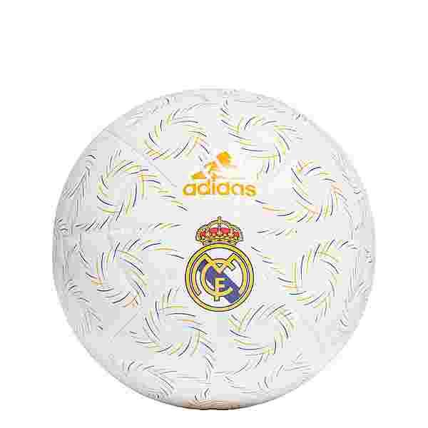 adidas Real Madrid Home Club Ball Fußball Herren White / Hi-Res Blue / Lucky Orange / Black