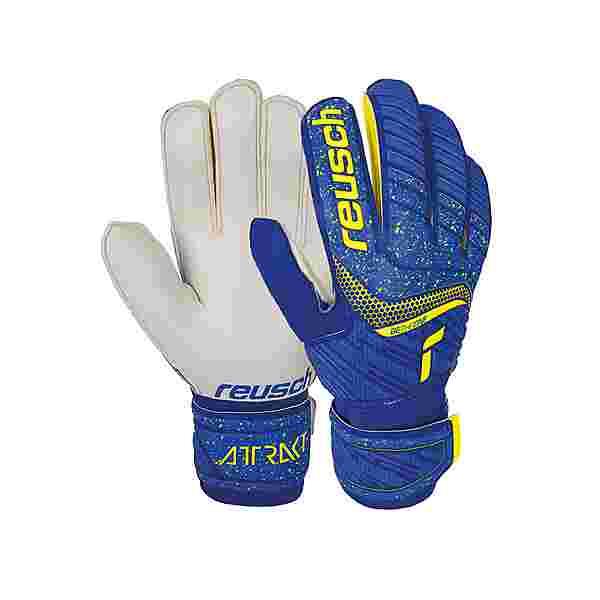 Reusch Attrakt Solid Torwarthandschuhe 4940 deep blue/safety yellow