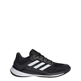 adidas Novaflight Volleyballschuh Sneaker Damen Core Black / Cloud White / Grey Six