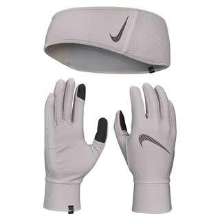Nike Essential Set Stirnband und Handschuhe Damen SILVER LILAC-PARTICLE GREY-SILVER