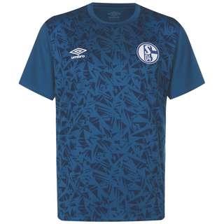 UMBRO FC Schalke 04 Warm Up Fanshirt Herren weiß / blau