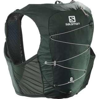 Salomon ACTIVE SKIN 8 SET-Ebony-Black- Trinkrucksack green gables-alloy