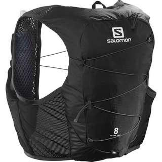 Salomon ACTIVE SKIN 8 SET-Ebony-Black- Trinkrucksack black-ebony