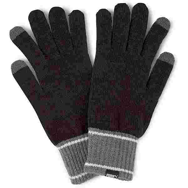 PUMA Fingerhandschuhe puma black-dark gray heather