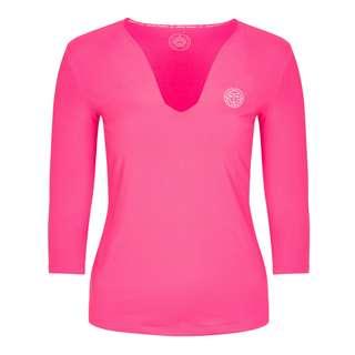 BIDI BADU Ariana Tech V-Neck Longsleeve Tennisshirt Damen pink