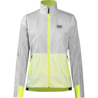 GORE® WEAR Drive Laufjacke Damen white-neon yellow