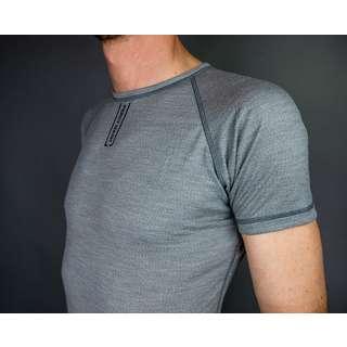 PERCY MASH Merino Baselayer kurzarm – Light Grey Unterhemd Grau