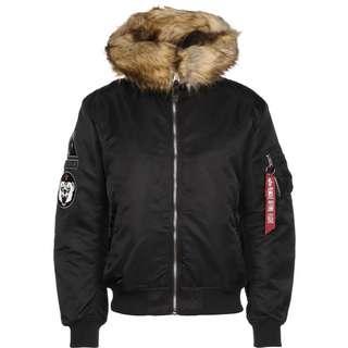 Alpha Industries MA-1 Hooded Arctic Winterjacke Herren schwarz