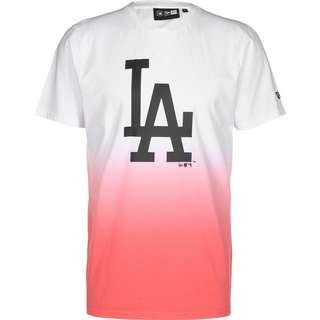 New Era LA Dodgers Dip Dye T-Shirt Herren weiß/pink