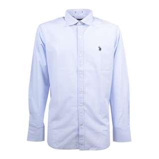 U.S. Polo Assn. Hemd Langarmhemd Herren white blue