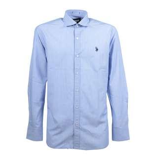 U.S. Polo Assn. Hemd Langarmhemd Herren lightblue