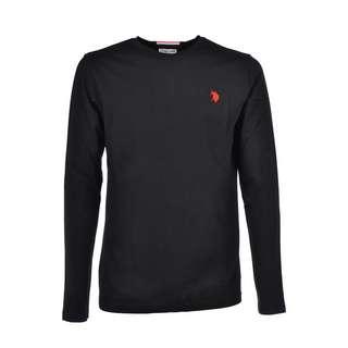 U.S. Polo Assn. T-Shirt LS T-Shirt Herren black
